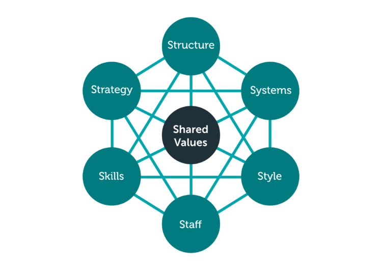 Das 7-S-Modell der Unternehmenskultur nach Peters und Waterman