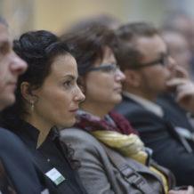 Teilnehmer einer Führungskräfte-Konferenz