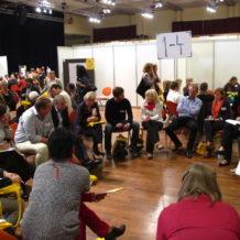 Arbeitsgruppen im Open Space